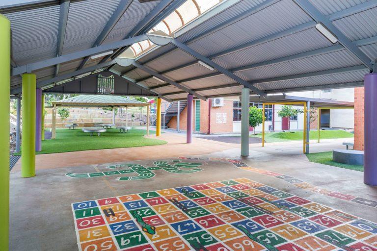 school outdoor area