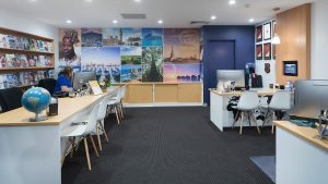 travel agency interior design